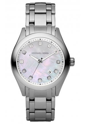 MICHAEL KORS Silver Stainless Band White Dial - Women's Watch 40mm