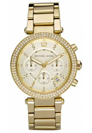 Michael Kors Parker Glitz Watch, Golden 39MM