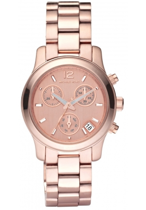 Women's Runway Rose Gold Tone Chronograph Ladies Watch 33mm