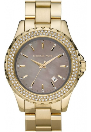 MICHAEL KORS Ladies Dial Gold Plated Bracelet Watch 42mm