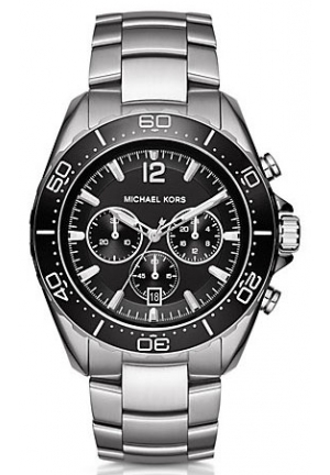MICHAEL KORS Winward Silver-Tone Watch 45mm