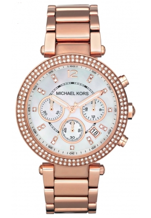 Michael Kors Mid-Size Rose Golden  Parker  Watch 39MM