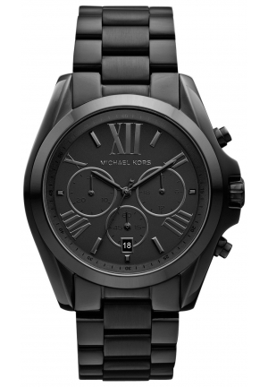 MICHAEL KORS Bradshaw Black Stainless Steel Watch 43mm