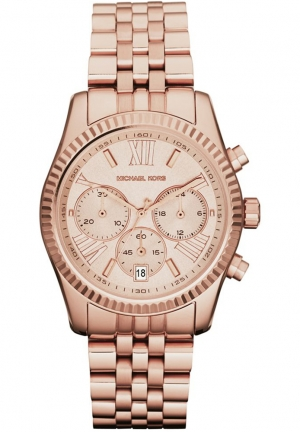 MICHAEL KORS Women's Chronograph Rose Gold-tone 38mm