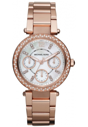 Michael Kors Women's Parker Rose Gold Watch, 33mm