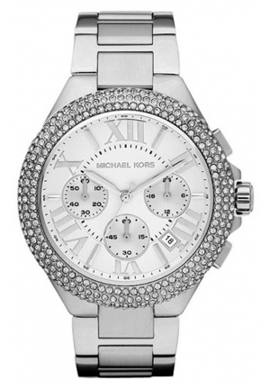 MICHAEL KORS Women's Camille Silver Watch 43mm
