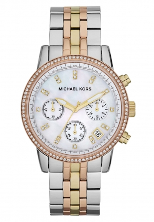 MICHAEL KORS Women's Ritz Tri-tone Watch 36mm