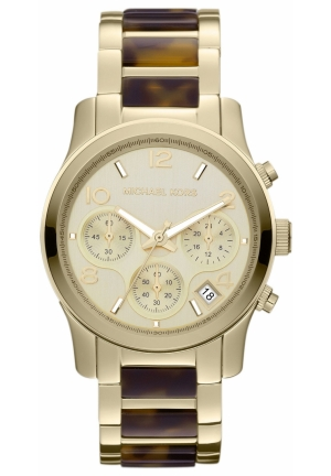 Runway Tortoise Acetate and Gold-Tone Stainless Steel  Watch 38mm