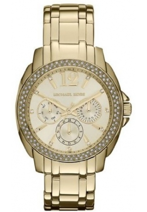 MICHAEL KORS Women's 'Cameron' Round Gold Bracelet Watch 38mm