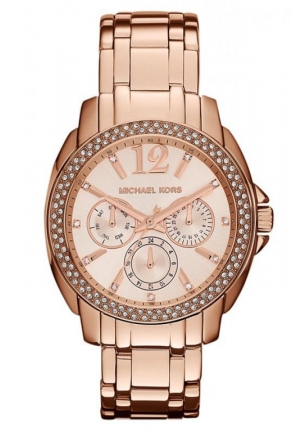 MICHAEL KORS Women's 'Cameron' Round Rose Gold Bracelet Watch 38mm