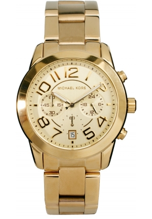 Michael Kors Chronograph Mercer Gold-Tone Stainless Steel Bracelet Watch 42mm
