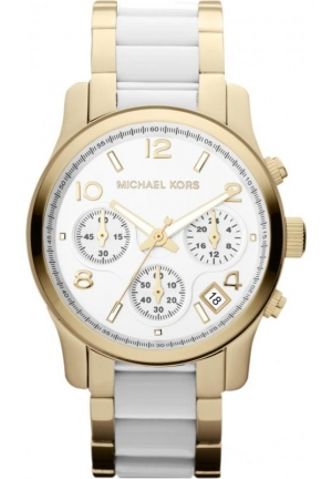Michael Kors Daily Wear Runway Chrono Gold & White