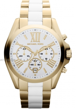 MICHAEL KORS Women's Chronograph White Acetate 43mm
