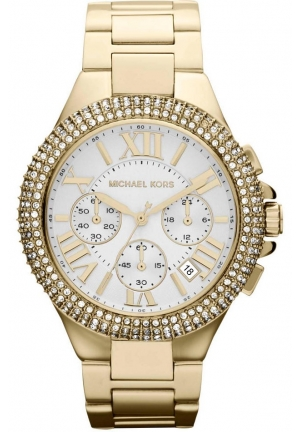 MICHAEL KORS LADIES GOLD CAMILLE WATCH 43mm