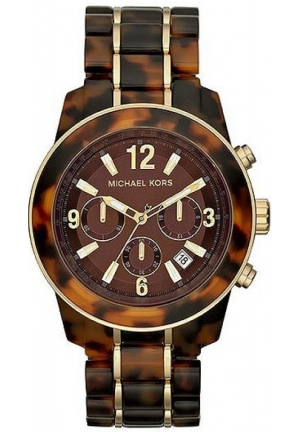 Michael Kors Womens Mid-size Acetate Chronograph Watch