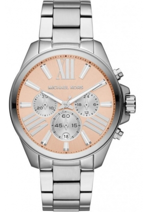 Unisex Silver Color Stainless Steel Wren Chronograph Watch 42mm