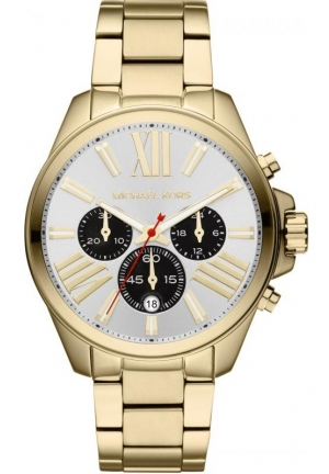MICHAEL KORS Unisex Golden Stainless Steel Wren Chronograph Watch 42mm