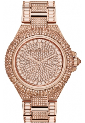 Michael Kors 'Camille' Crystal Encrusted Bracelet Watch, 44mm