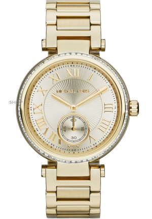 Women's Mid-Size Golden Skylar Two-Hand Glitz Watch 42mm