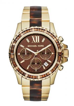 Everest Chronograph Brown Dial Ladies Watch 42mm