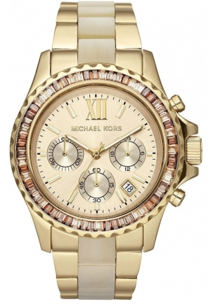 Unisex 'Everest' Crystal Bezel Two Tone Bracelet Watch, 42mm