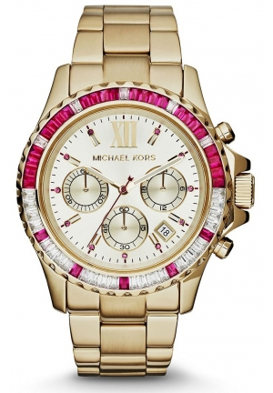 Women's 'Everest' Baguette Crystal Bezel Bracelet Watch, 42mm
