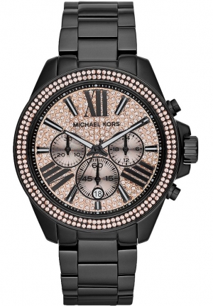 'Wren' Pavé Dial Chronograph Bracelet Watch, 42mm