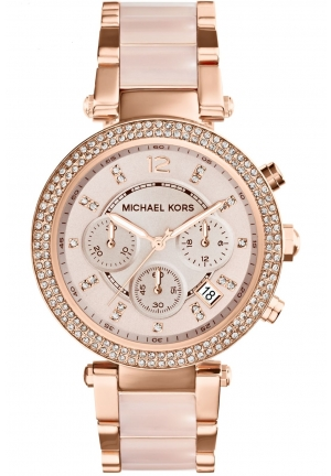 Micheal Kors Parker Chronograph Glitz Watch 39mm