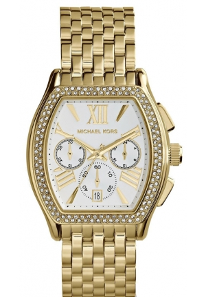 Amherst Chronograph Silver Dial Gold-plated Ladies Watch 38mm