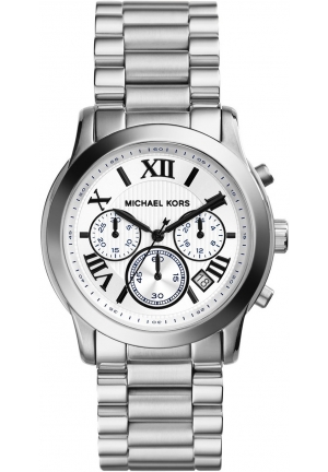 MICHAEL KORS Silver Color Stainless Steel Chronograph Watch 39mm
