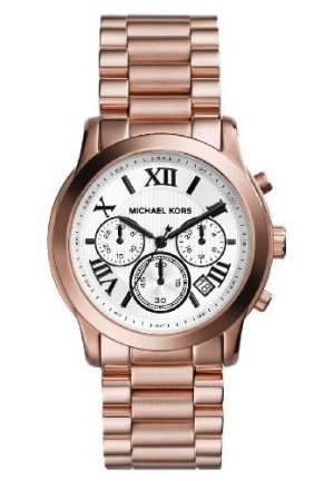 Michael Kors Women's Chronograph Cooper Rose Gold Steel Bracelet Watch 39mm
