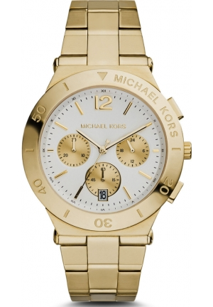 Wyatt White Dial Gold Ion-plated Ladies Watch 40mm