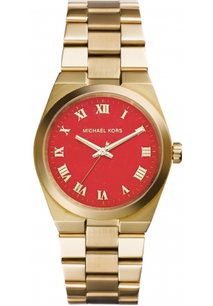 MICHAEL KORS Runway Orange Dial Gold-tone Ladies Watch 38mm