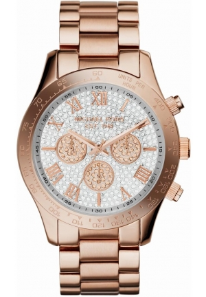 MICHAEL KORS Layton Pave Dial Ladies Watch 43mm