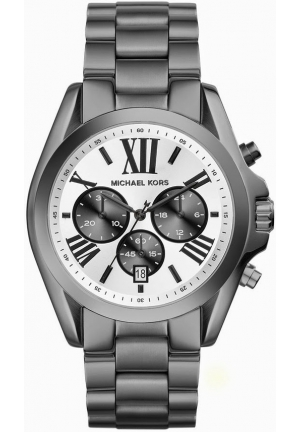 Bradshaw White Dial Gunmetal Ion-plated Mens Watch 43mm