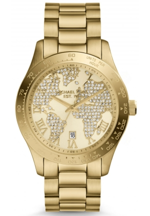 MICHAEL KORS Layton Gold-Tone Watch 44mm