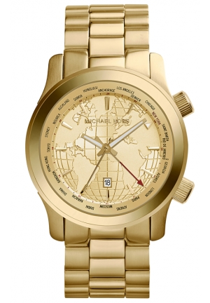 Runway GMT Gold-Tone Stainless Steel Watch 43.5mm