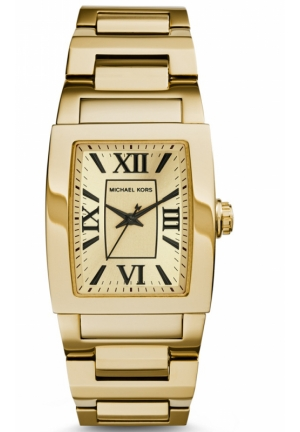 MICHAEL KORS Denali Gold Tone Watch 38x32 mm