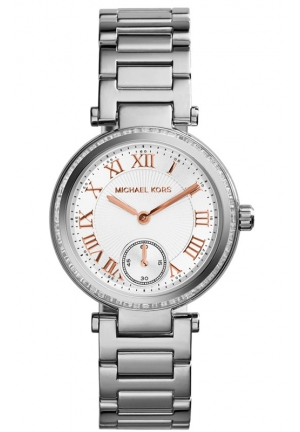MICHAEL KORS Skylar Silver Tone Watch 33mm