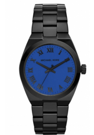 Channing Blue-Dial Black Stainless Steel Watch
