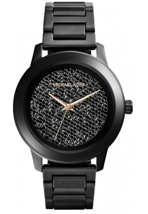 Kinley Pavé Black Stainless Steel Watch