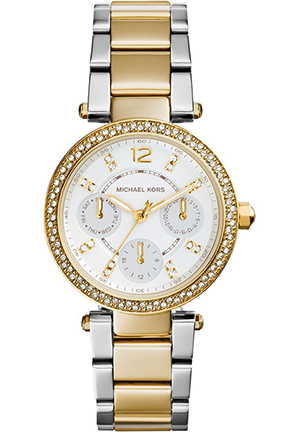 Michael Kors Women's Chronograph Mini Parker Two-Tone Stainless Steel Bracelet Watch 33mm