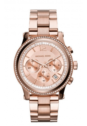MICHAEL KORS Gold Plated Stainless Steel Case Rose Gold Gold Plated Stainless Steel Mineral Women's Watch 40mm