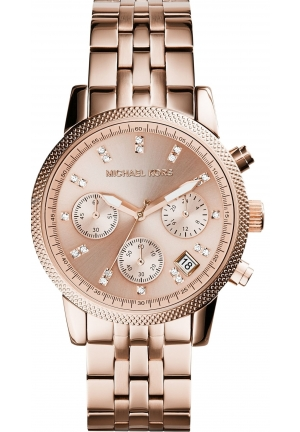 Ritz Rose Gold Tone Chronograph 36mm MK6077