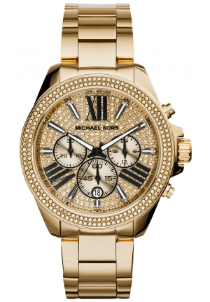 MICHAEL KORS Wren Pavé Gold-Tone Watch 42mm