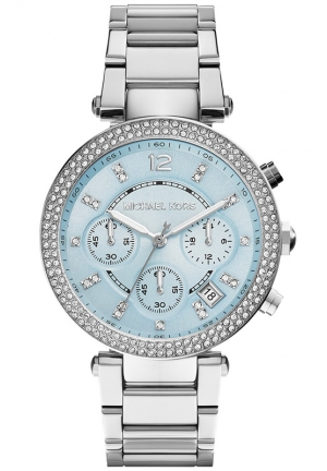 MICHAEL KORS Women's Chronograph Parker Stainless Steel Bracelet Watch 39mm