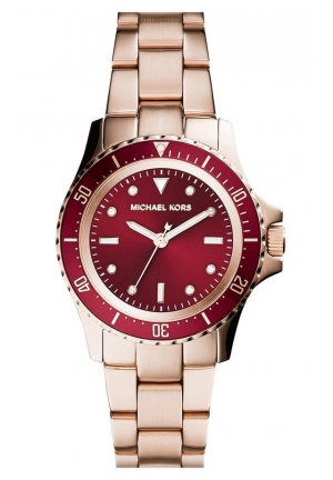 TATUM RED DIAL ROSEGOLD LADIES WATCH 33mm