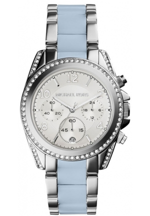 Blair Silver-Tone Acetate Watch 39mm