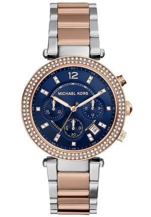 MICHAEL KORS Parker Chronograph Stainless Steel Watch - Rose Gold Tone 39mm
