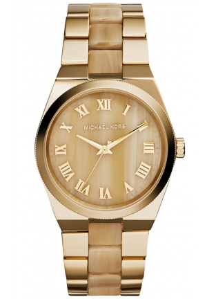 Women's Channing Horn and Gold-Tone Stainless Steel Bracelet Watch 38mm